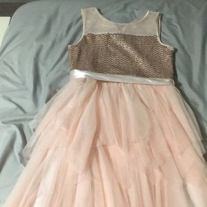 Pink sparkly dress girls size 14